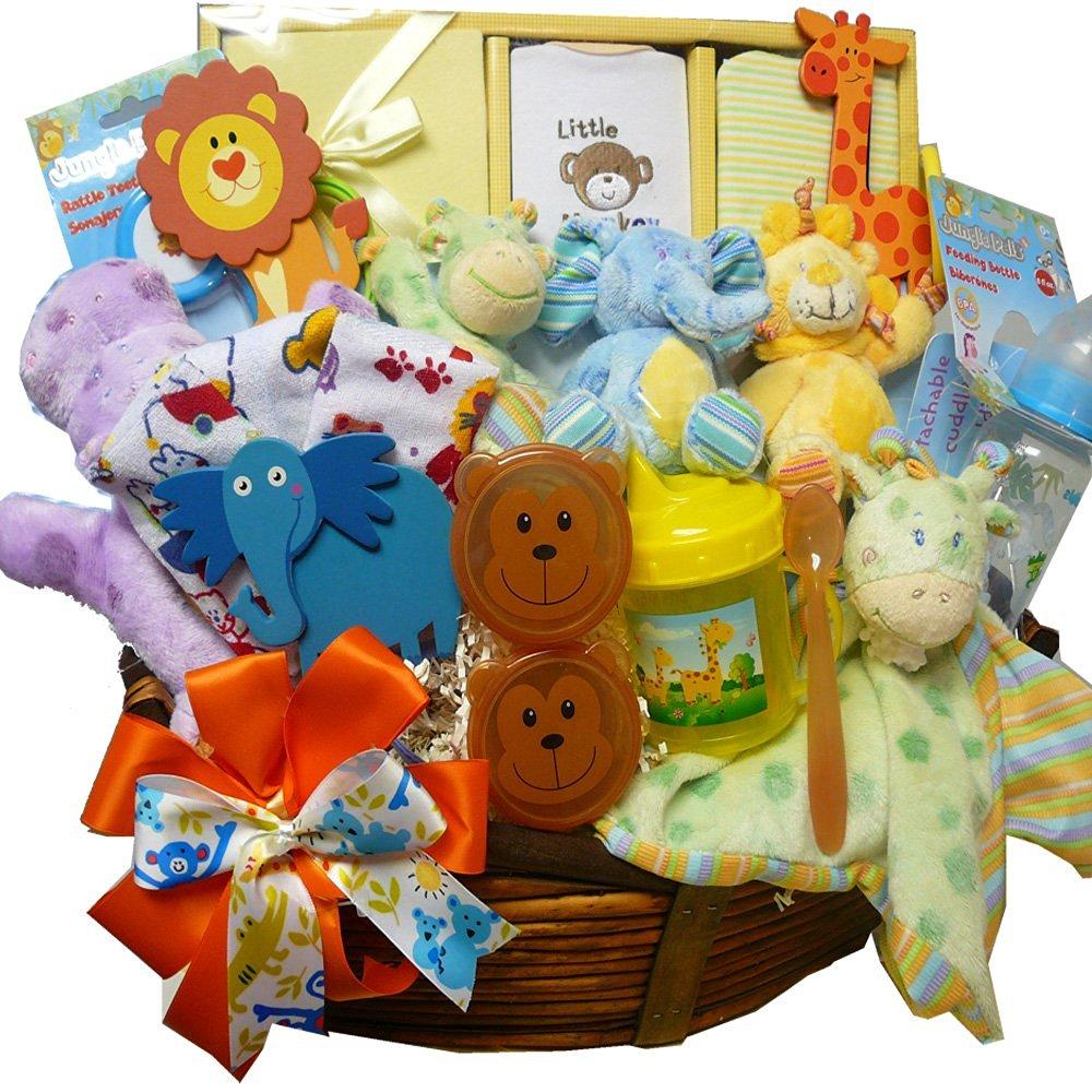Baby Gift Basket Interflora : Art of appreciation gift baskets jungle buddies new baby